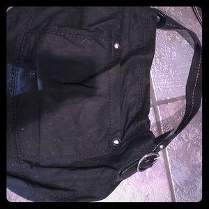 Black wool bag